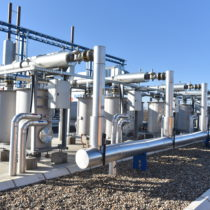 Gas cleaning system